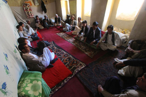 afghan-men-sitting-before-meal