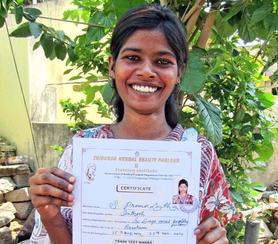 premalatha-holding-certificate