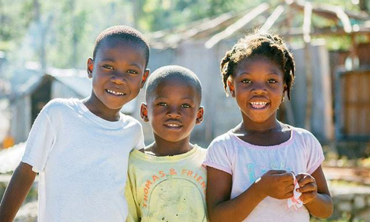 picture of cute children in Haiti