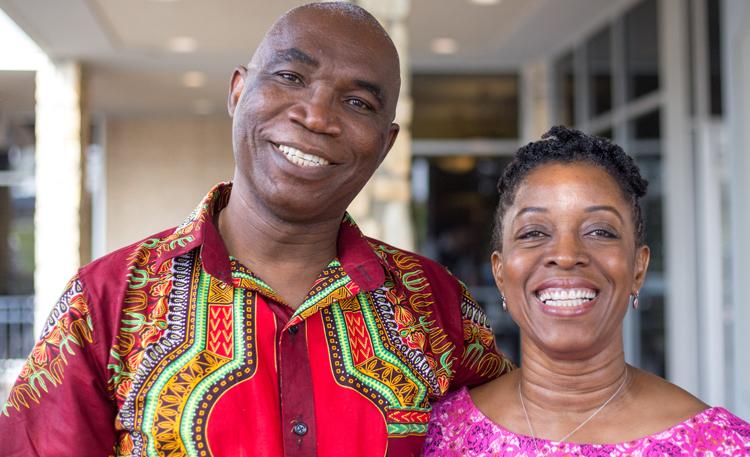 Heaven's Family staff member Ugonma Adiukwu with husband Charles
