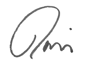 David Servant's signature