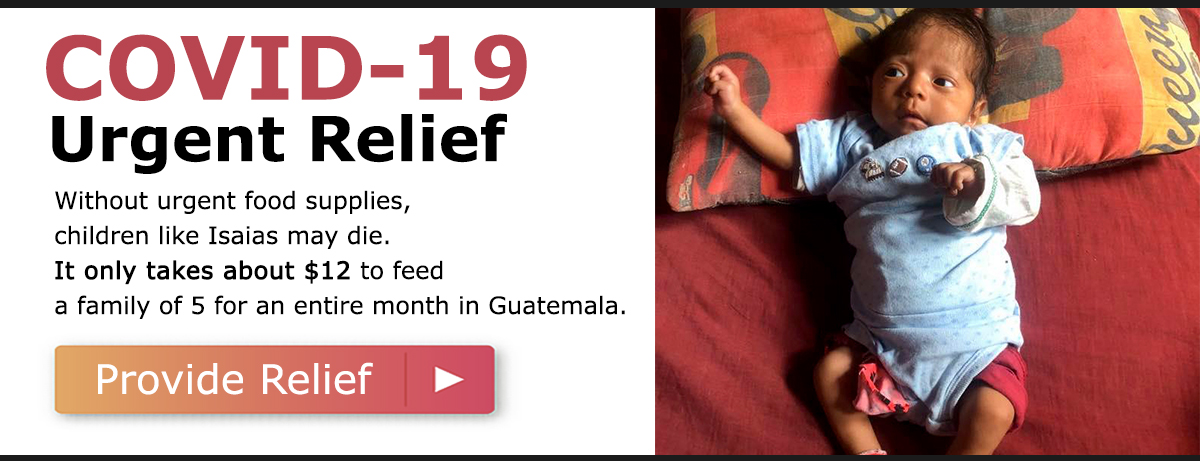 Without urgent food supplies, children like Isaias may die. It only takes about $12 to feed a family of 5 for an entire month in Guatemala. Click here to provide relief.