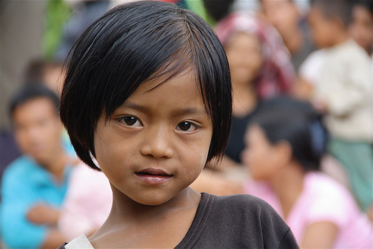 Little girl in Chin State, Myanmar