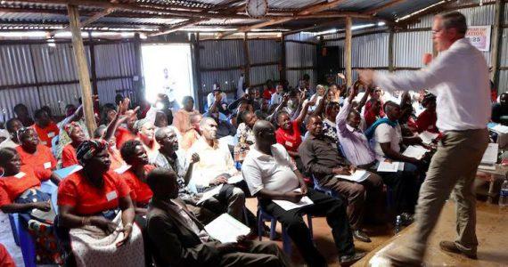 Micro-Loan Director Dan Steward teaching bankers and borrowers in Kenya