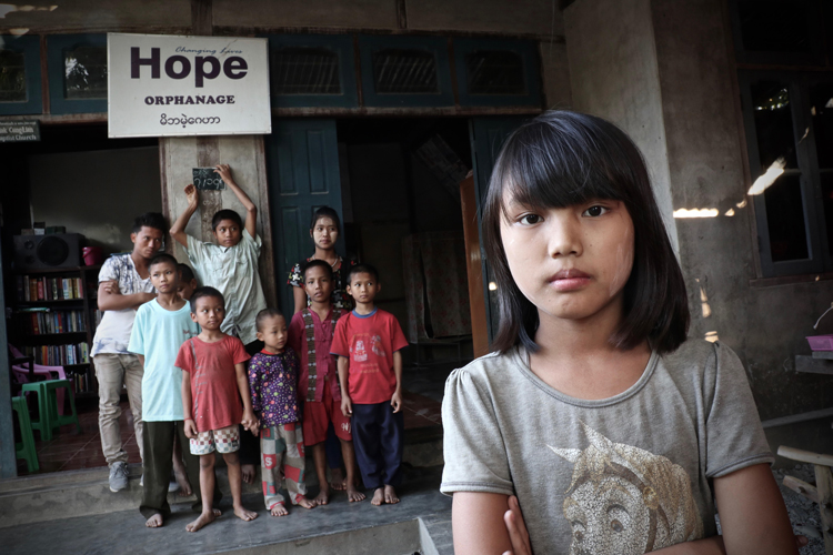 Picture of girl at orphanage - Orphan's Tear Ministry of Heaven's Family