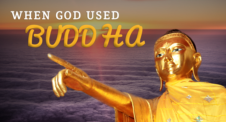 Statue of Buddha pointing - When God used Buddha