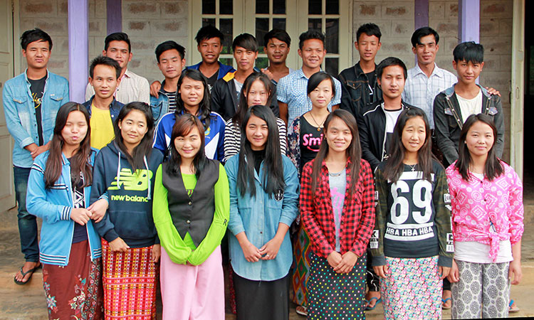 Picture of missionary students in Myanmar