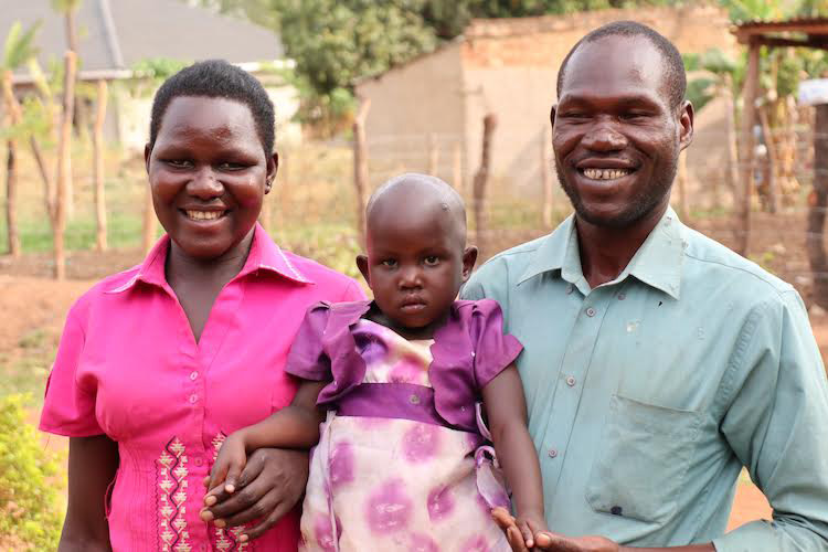 Winnie, a child in Uganda who received surgery that reversed a heart-breaking disability