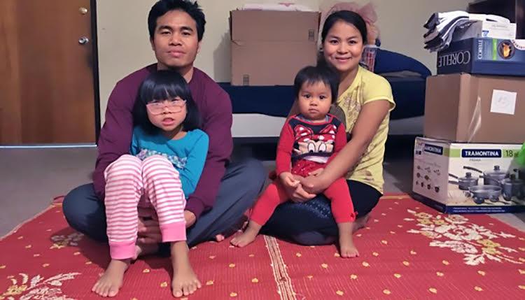 Refugee family from Myanmar