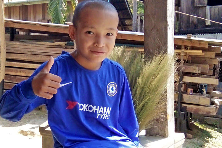 Picture of Kyaw in soccer clothes