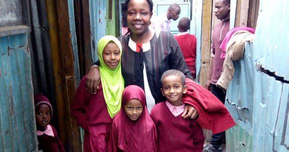 Carolyne with Muslim children at Jocada Academy