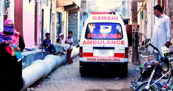 Picture of Christian ambulance in Pakistan