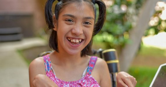 Child in Guatemala with cerebral palsy