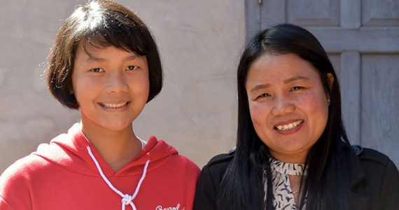 Picture of Marry with her foster daughter in Myanmar