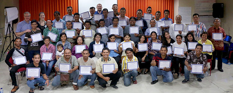 Picture of small business training in Indonesia