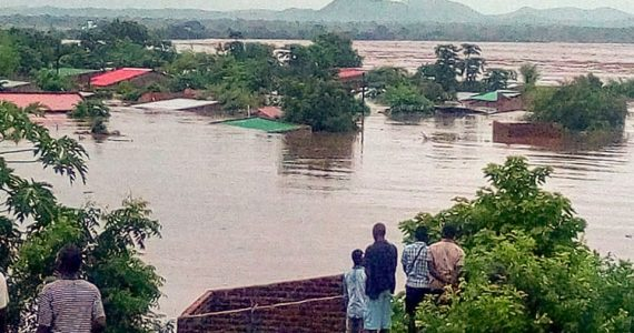 Picture of flooding in Malawi from Cyclone