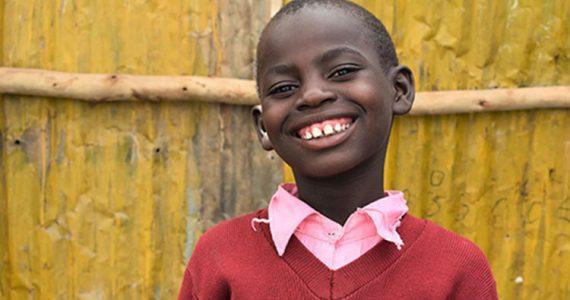 Picture of student in Kenyan slum