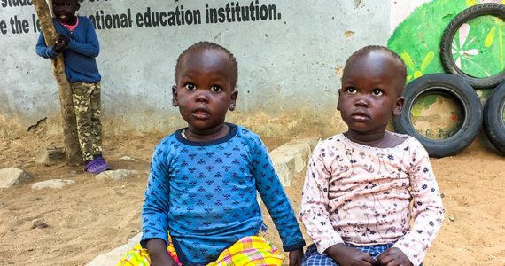 Picture of children safe at home in Kenya