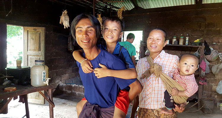 Family reunited in Myanmar