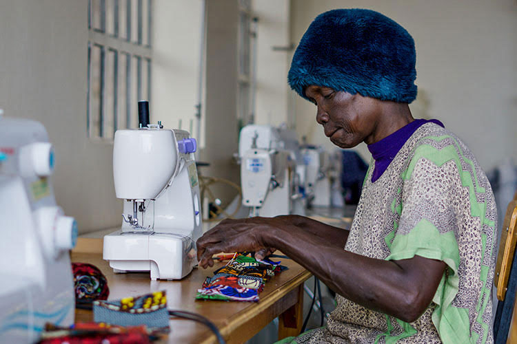 Women in Kenya sewing