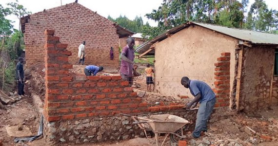 Picture of rain-proof brick classrooms in Kenya