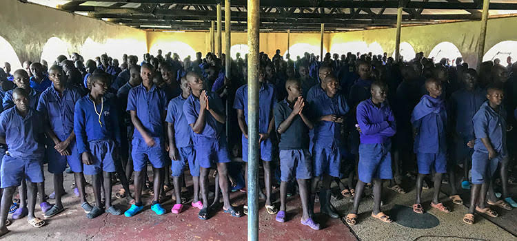 Picture of inmates at prison in Kenya