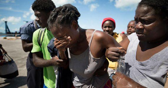 Picture of hurricane Dorian victims in Haiti