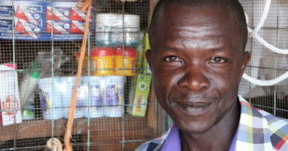 Picture of Kenyan borrower in shop