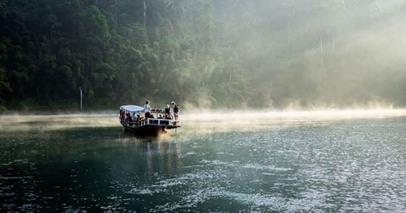 Picture of river boat in Southeast Asia