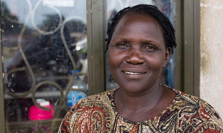 Picture of former sex slave in Uganda