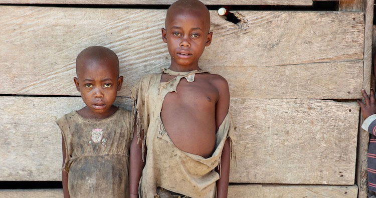 Picture of impoverished boys in Cameroon