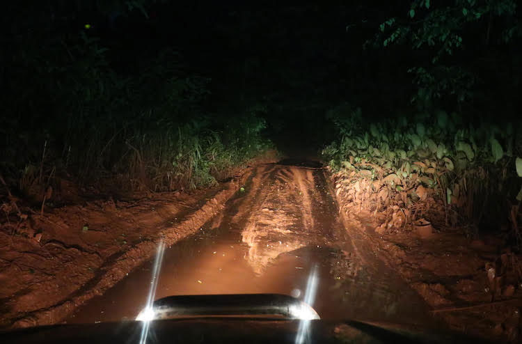 Picture of car trip in Cameroon