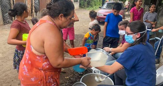 Picture of food being distributed in Guatemala during COVID-19