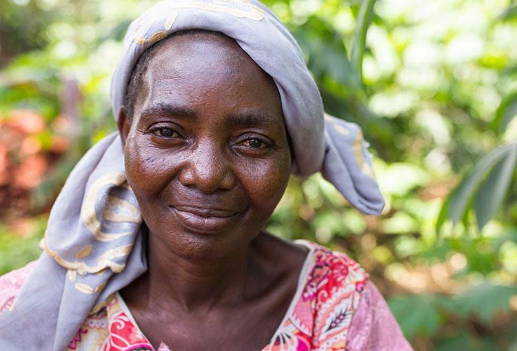 """Picture of """"Julia"""", a former rape victim in Africa"""