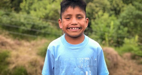 Picture of a boy rescued from trafficking in Mexico