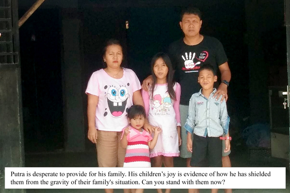 Picture of Putra and his family - Microloan Ministry September 2020 Appeal