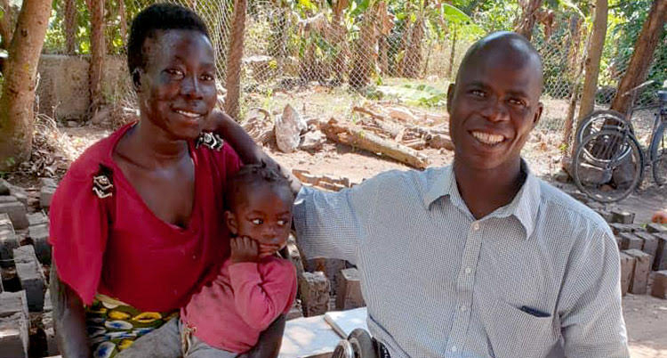 Picture of disabled family in Uganda